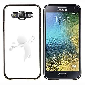 TECHCASE---Cubierta de la caja de protección para la piel dura ** Samsung Galaxy E5 E500 ** --Abstracto blanco