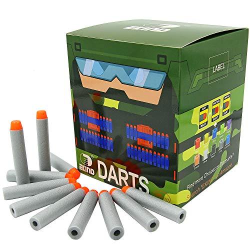 Gray Darts - EKIND 200Pcs Darts Refill Foam Bullet Nerf N-strike Elite Guns (Gray)