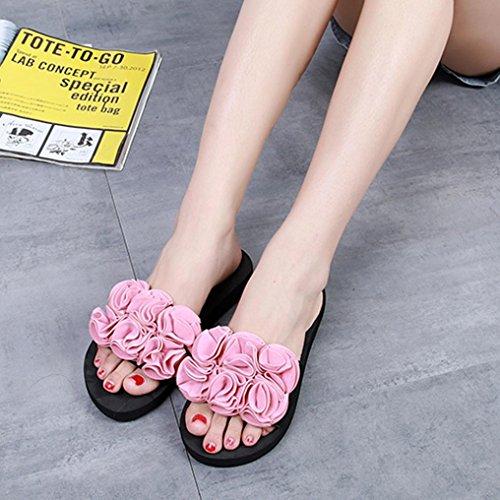 Mujer Mujer Antideslizantes Interior Calzado Chanclas Sandalias Aire Mujer Youth Playa by Sandalias Rosa Zapatos Caliente Verano De Venta Libre Al Flor Chancletas Zapatillas De K Cuñas 8wxtt6