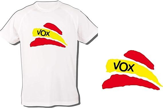 MERCHANDMANIA Camiseta Partido VOX Bandera ESPAÑOLA Tshirt: Amazon.es: Ropa y accesorios