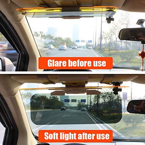 Regolabile Visiera Parasole per Auto 2 in 1 Anti-riflesso Pratico Anti-abbagliamento Anti Raggi UV Mahala Yagagaga Protezione da Luce Diurna e Notturna Doppio Uso