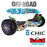 Chic UL 2272 Certified 8.5' All Terrain Offroad Hoverboard Smart Balance Scooter LED with Bluetooth Free Bag Graffiti Color HB-Z13-GRAFFITI