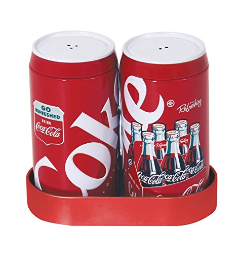 Coca Cola Salt Pepper Shakers Caddy