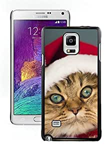 Individualization Christmas Cat Black Samsung Galaxy Note 4 Case 38