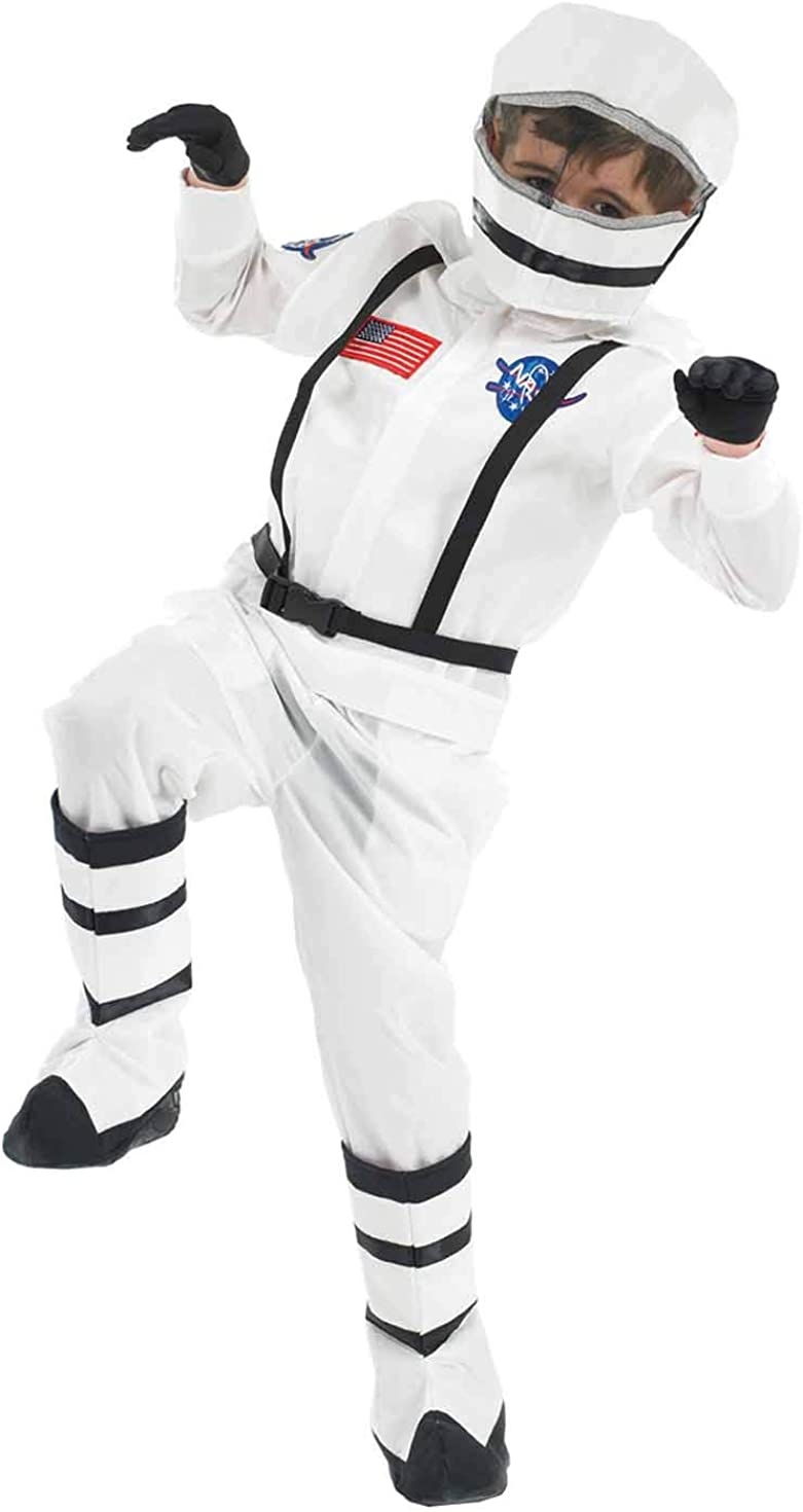 fun shack Kids Astronaut Costume Boys & Girls Space Suit Childrens NASA Outfit