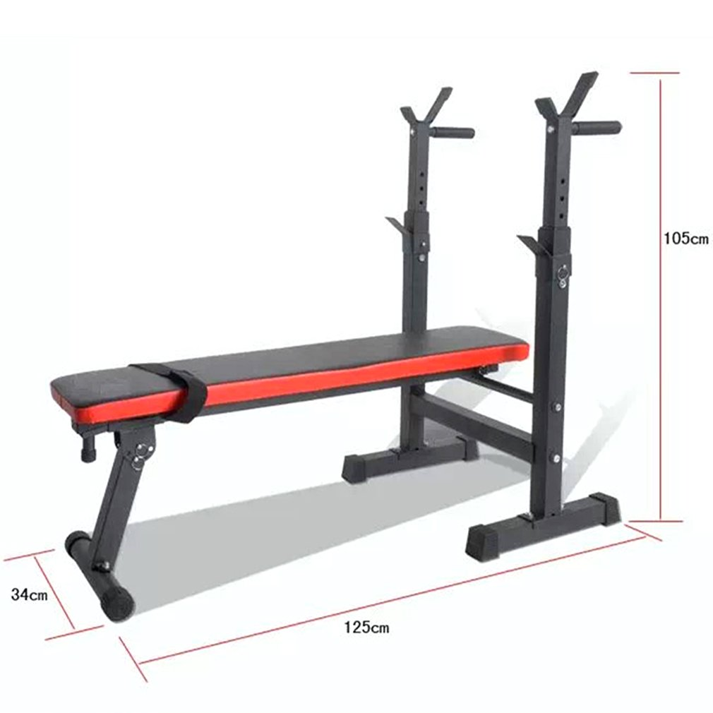OUTAD Adjustable Folding Weights Bench Heavy Duty Gym Maximum Weight up to 280 Kg-Black oHholly