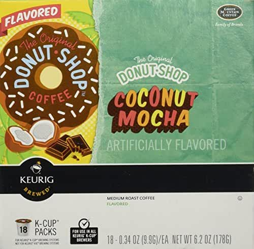 Keurig Donut Shop Coconut Mocha 18 K CUP PACKS,0.34oz