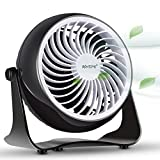 BONTIME Table Fan - Cooling Desktop Fan with 360 Free Adjustable Tilt, USB Powered Desk Fan Perfect for Home, Office or Any Desktop Area, 4 inches (Classic Black)