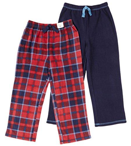 St. Eve Boys' Sleep Pant 2-pack (10, Red Plaid)