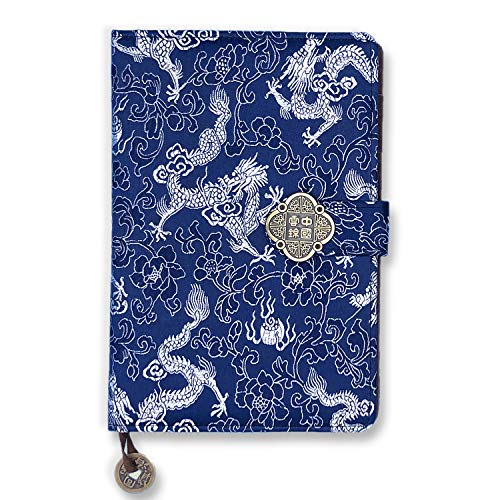 Journal Notebook -A5 College Ruled Chinese Silk Hardcover Lined Paper Bullet Diary Writing Notebook,8.3 x 5.5
