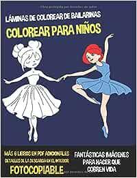 Láminas de Colorear de Bailarinas Colorear Para Niños