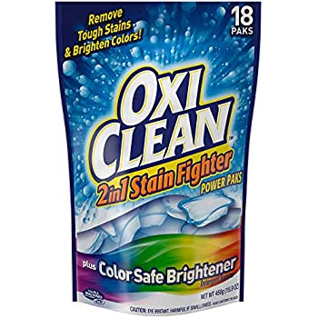OxiClean 2in1 Stain Fighter with Color Safe Brightener Power Paks, 18 Count