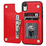 OT ONETOP iPhone XR Wallet Case with Card