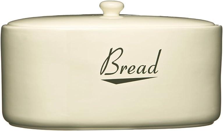 Cream Stylish Bread Storage Bin Ceramic Bread Bin Bread Crock Coronet Amazon Co Uk Kitchen Home