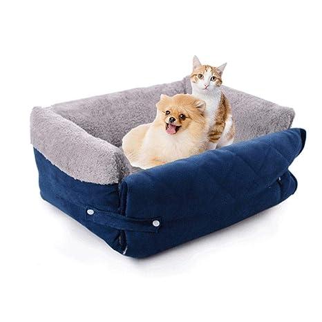 Lâ Vistmon Cama para Perros Perro De Perrito Sofa Cama para Perro Lavable con Almohadas de