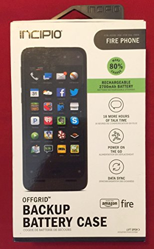 Incipio offGRID Backup Battery Case for Amazon Fire Phone - Black - Retail Packaging