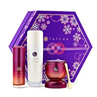 Tatcha Brightening Secrets Set: Brightening and Smoothing 3 Piece Set Including The Essence, Violet-C Brightening Serum, and Violet-C Radiance Mask