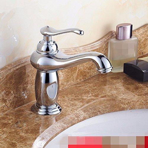 Hlluya Wasserhahn für Waschbecken Küche Wasserhahn Messing antik Bad Bad Bad Armatur alle Gold Silber niedrig 8a166b