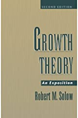 Growth Theory: An Exposition by Solow Robert M. (2000-01-13) Paperback Paperback