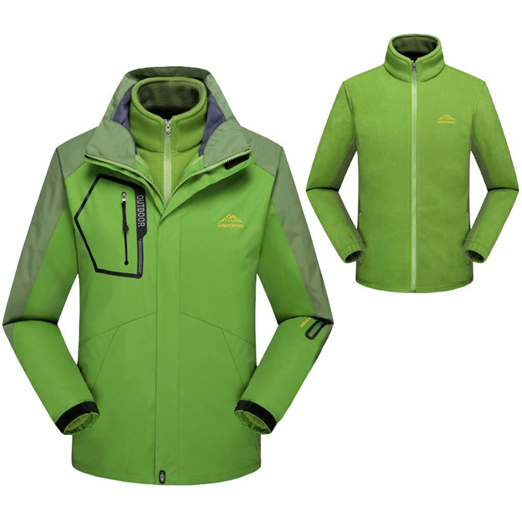 Yanbeng Mens 3 in 1 wasserdichte Jacke Abnehmbare Innen Fleece, verschweißte Nähte, am besten für Winterwandern Reisen im Freien Schnee Ski