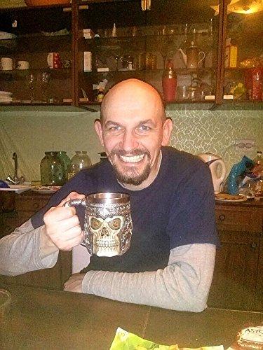 3D Design Stainless Steel Skull Coffee Mug Viking Beer Mugs Gift for Men Gifts