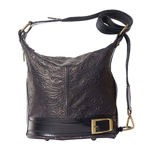 Bandolera Negro Leather Market En 300s Bucket Florence Con Bolso Trasformable fzwSq0