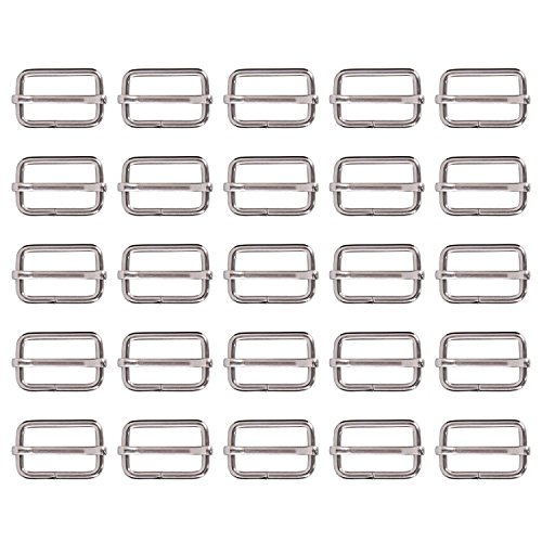 Shappy 25 Pieces 1 Inch Slide Buckle Triglide Slides Webbing Slider for Fasteners Strap Backpack, (Strap Fastener)