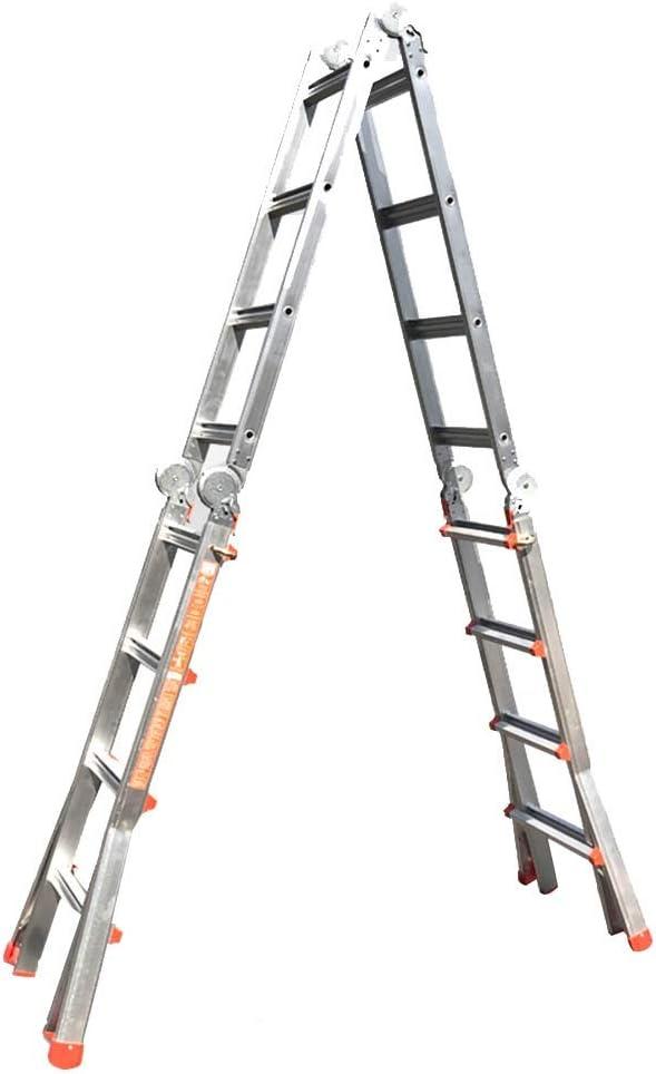 PENGFEI Escalera Telescópica Plegable Escalera De Ingenieria Al Aire Libre Interior Aluminio, 5M / 7M (Color : B): Amazon.es: Hogar