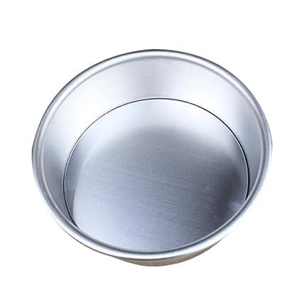 Gessppo Molde de pastel 2/4/6/7/8 In Aluminum Alloy