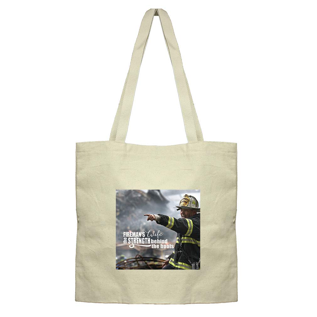 Wife Of An Is The Strength Behind His Boots Cotton Canvas Flat Market Tote Bag