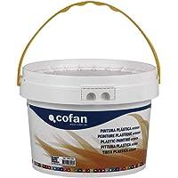 Cofan 15002381 Pintura Plástica Interior, Blanco, 10 kg