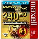 マクセル SuperDisk 240MB(スーパーディスク)ブラック 1枚 Windowsフォーマット SD240.WIN.B1P