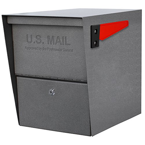 - Mail Boss 7205 Package Master Curbside Locking Security Mailbox, Granite