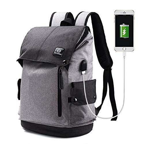Cheap Laptop Backpack, Z-NINIE Anti Theft Travel Business Backpack with USB Charging Port, Water Resistant College School Computer Bag for College Student Men Women, Fit Under 15.6 Inch Laptop Notebook