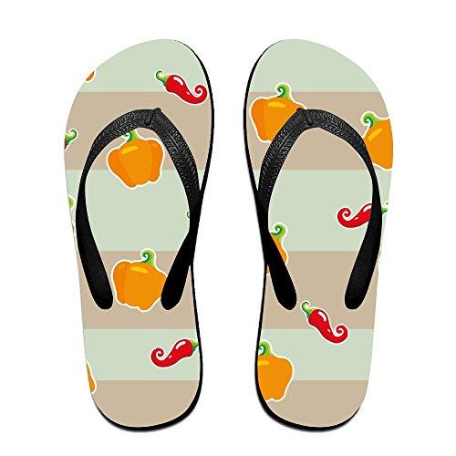QR FUNK Unisex Colored Ornament Of Hot Stripe Summer Comfortable Flip Flops Beach - Havianna Sale