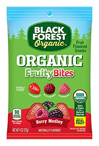Black Forest Organic Fruit Snacks, Mixed Berry, 4 Ounce Bag, Pack of (Black Forest Fruit Snacks Ingredients)