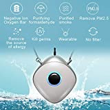 WOOLALA Wearable Air Purifier Necklace Personal Air Cleaner Around Neck Negative Ion Generator for Travel Office 29Hours Long Battery Life