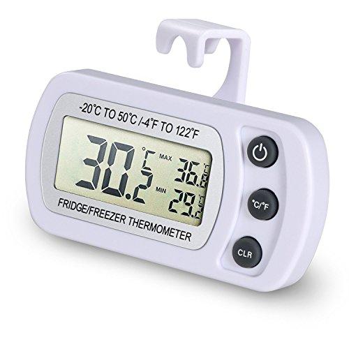 🥇 EUGO Impermeable Digital Termómetro para frigoríficos Refrigerador