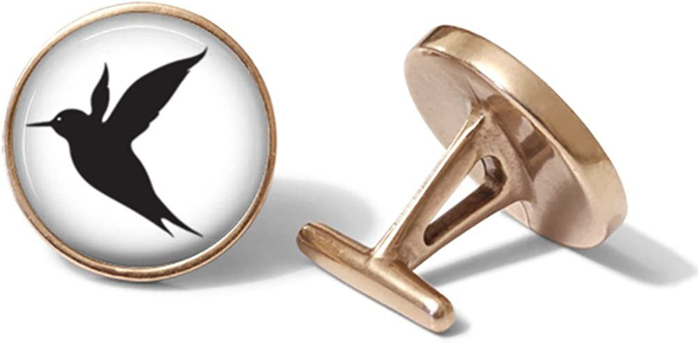 Hummingbird Cufflinks Solid Bronze