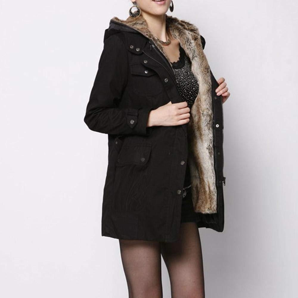 Amazon.com: HGWXX7 - Abrigo de invierno para mujer con forro ...