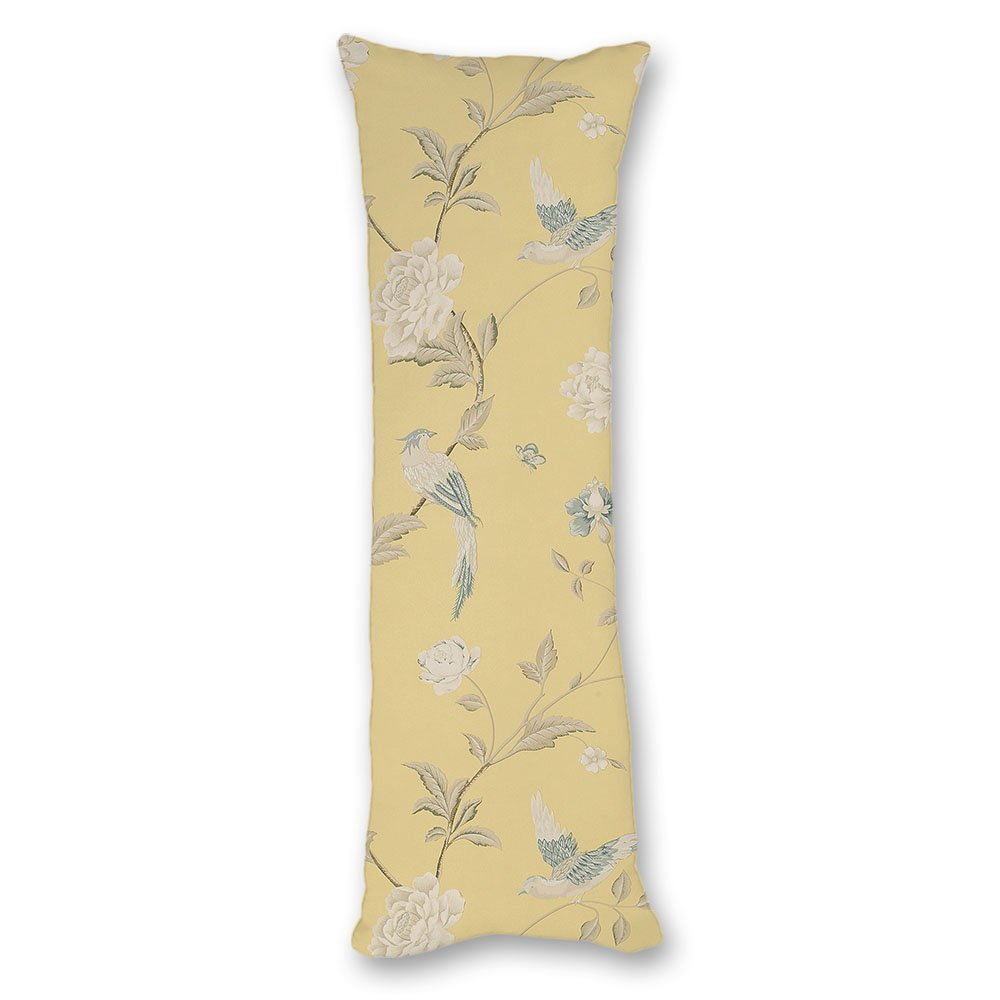 Asawood Body Pillow Cover Flowers with Bird Decorative Pillowcase Home Couch Cushion 20x54 Inches body pillow-HD-042