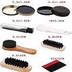 Ensemble de 9 Kit de cirage de chaussures Brosse de soins spéciaux Ensemble de chaussures en cuir Entretien du nettoyage… 9
