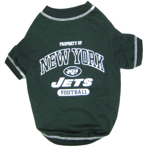 (NEW YORK JETS Dog T-Shirt, Small. - Cutest Pet Tee Shirt for the real sporty)