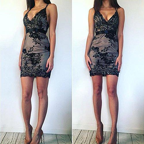 Futurino - Vestido - trapecio - para mujer negro