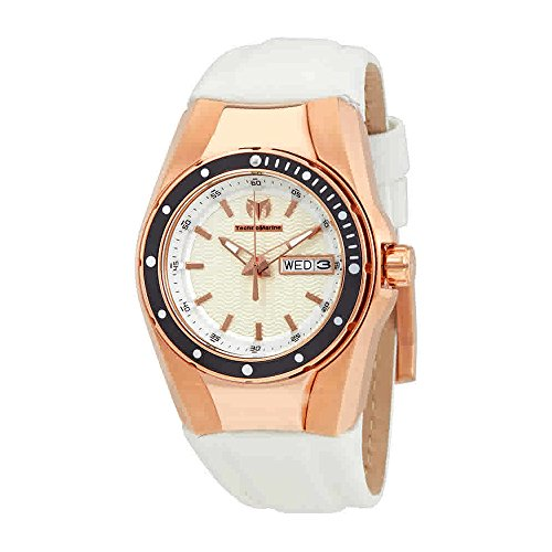 Technomarine Women's 'Cruise' Quartz Gold and Silicone Casual Watch, Color White (Model: TM-115390)