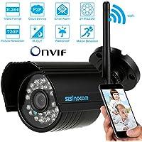 KKmoon H.264 720P Wireless WIFi IP CCTV Camera Home Security ONVIF Waterproof Night Vision Motion Detection Bullet Camera