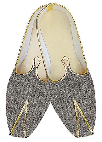 INMONARCH Hombres Boda Zapatos Groomsman Gris MJ013275