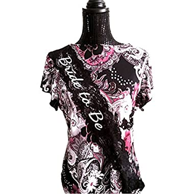 Bachelorette Bride to Be Black Lace Sash - Bachelorette Party - Bridal Shower - Girl's Night Out Gift