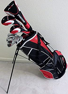 "New Tall Mens Golf Set Clubs for Men 6'0""- 6'6"" Complete Driver, Fairway Wood, Hybrid, Irons, Putter, Stand Bag Stiff Flex"