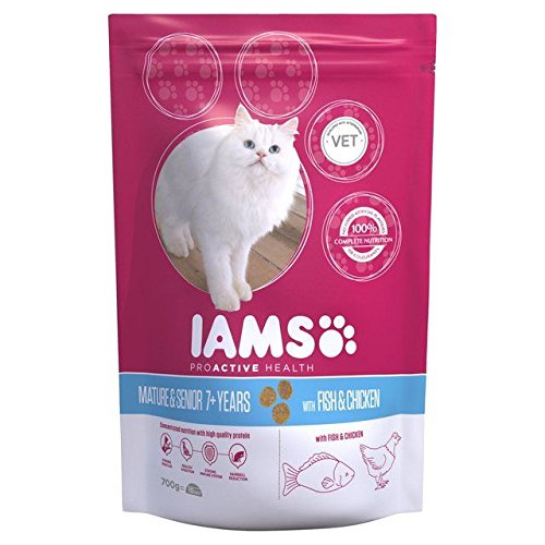 Iams Senior & Mature Dry Cat Food Ocean Fish 700g